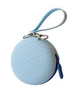 Porta Chupeta Silicone Azul Clingo
