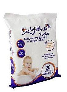 Lenços Umedecidos Pocket com 20 unidades - Baby Bath