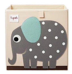 Cesto Organizador Quadrado Elefante- 3 Sprouts