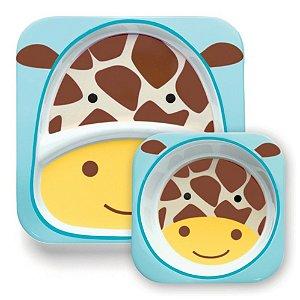 Kit Prato e tigela bowl Girafa Zoo - Skip Hop