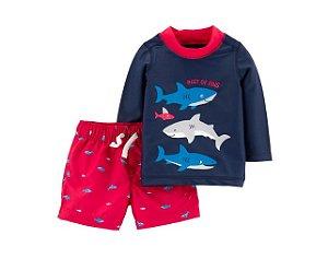 Conjunto banho Carter's Tubarão