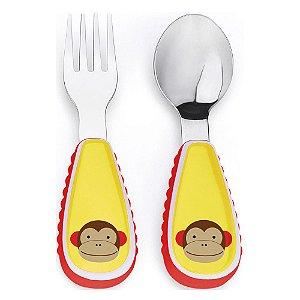 Talheres Skip Hop Macaco personalizados com nome