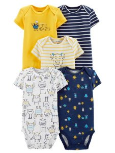 Kit de body Carters Monstrinho