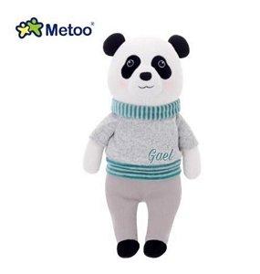 Pelúcia Metoo Panda cinza personalizado com nome