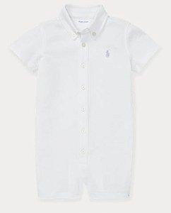 Macacão romper algodão Ralph Lauren - branco