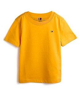 Camiseta algodão Mostarda Tommy Hilfiger