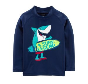 Camiseta de banho Carter's Tubarão