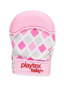Luva mordedor de silicone Playtex - Rosa