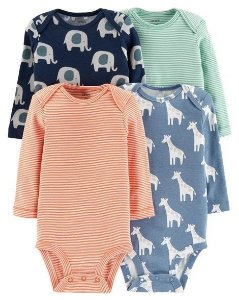 Kit de body Carters manga longa - Safari