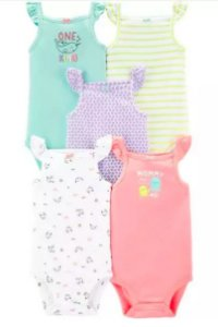 Kit de body regata Carters Babygirl