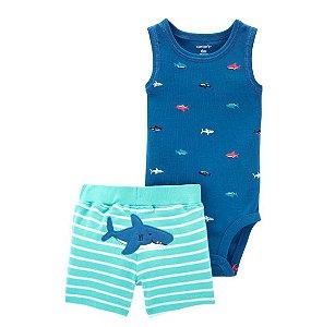 Conjunto Carters Body e Bermudinha Tubarão