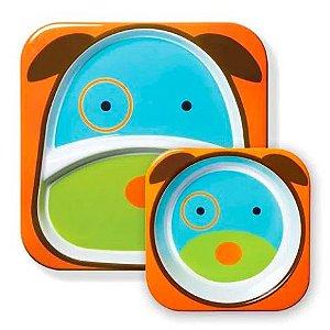 Kit Prato e tigela bowl Cachorro Zoo - Skip Hop