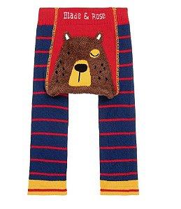 Meia calça de lã Blade and Rose urso personalizado com nome