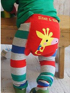 Meia calça de lã Blade and Rose girafa personalizado com nome