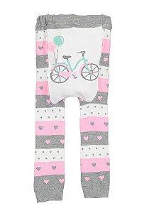 Meia calça legging bike doodle pants