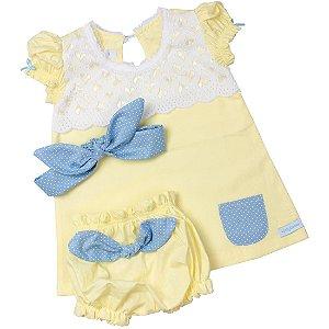 Roupa Infantil Metoo Amarela personalizada com nome