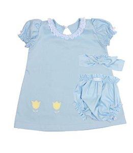 Roupa Infantil Metoo Azul personalizada com nome