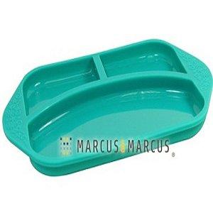 Prato em silicone com 3 divisórias Elefante Marcus e Marcus