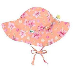 Chapéu de Banho com proteção Iplay Hibiscos Rosa