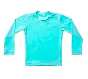 Camiseta de banho Azul Aqua com UV 50+ Bupbaby