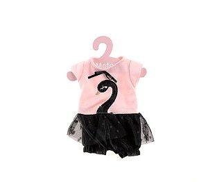 Roupa de Boneca Metoo Fashion Cisne Negro