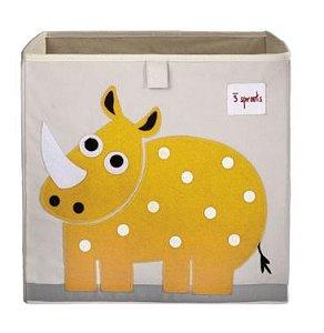 Cesto Organizador Quadrado Rinoceronte 3 Sprouts