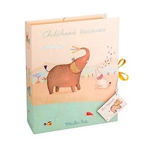 Caixa dos Primeiros Tesouros do Bebê Moulin Roty Elefante