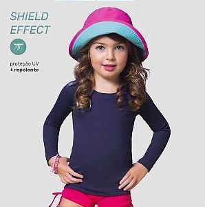 Camiseta com Proteção e Repelente a insetos UV LINE - Marinho