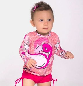 Camiseta com Proteção Flamingo UV LINE 18 meses