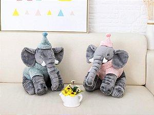 Pelúcia Elefante Buguinha 33cm Boy e Girl - personalizado com nome