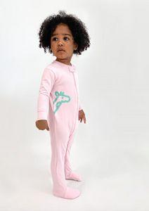 Macacão algodão com pezinho rosa bebe - Welpie