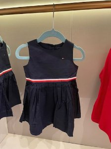 Vestido tricoline Marinho - Tommy Hilfiger