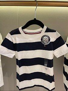 Camiseta listrada Navy Mini Me Style - Tommy Hilfiger