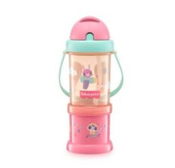 Copo com Porta Snack Rosa Sunset Fisher Price