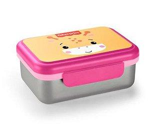 Bento Box Aço Inox Quente e Frio Fisher Price Rosa