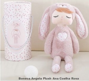 Boneca Metoo Ana pelúcia coelho rosa