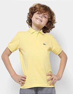 Polo Infantil Amarela Lacoste