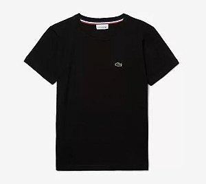 Camiseta Infantil Preta Lacoste