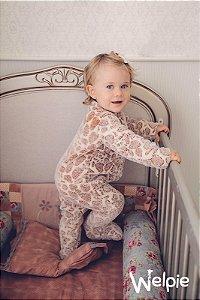 Macacão fleece Girafa - Welpie