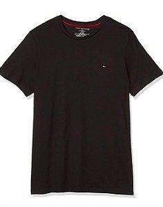 Camiseta algodão Preta - Tommy Hilfiger