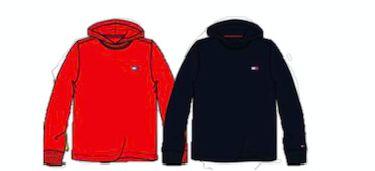 Blusa manga comprida Vermelho - Tommy Hilfiger