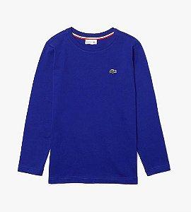 Camiseta manga longa Azul Bic - Lacoste
