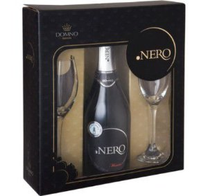 Kit Ponto Nero Espumante Moscatel com 2 taças de vidro