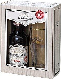Kit Cerveja Leopoldina IPA 500ml + 1 taça