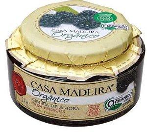 Casa Madeira Geleia Orgânica de Amora com pedaços (240g)