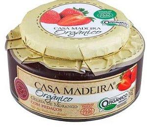 Casa Madeira Geleia Orgânica de Morango com pedaços (240g)