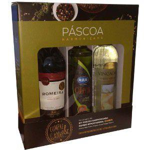 Kit Domno PÁSCOA - 1 vinho branco + 1 vinho tinto + 1 azeite de oliva 0,2%