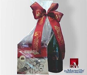 Panettone Premium com Gotas de Chocolate + Espumante De Marseille Moscatel