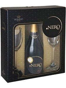 Kit Ponto Nero Espumante Brut com 2 taças de vidro