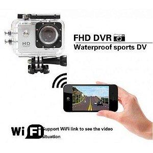 Camera Aprova D'agua Action Cam Sport Cam Full HD 1080P Wi-Fi